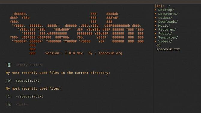 Projekt SpaceVim– moderní distribuce Vimu inspirovaná Spacemacsem