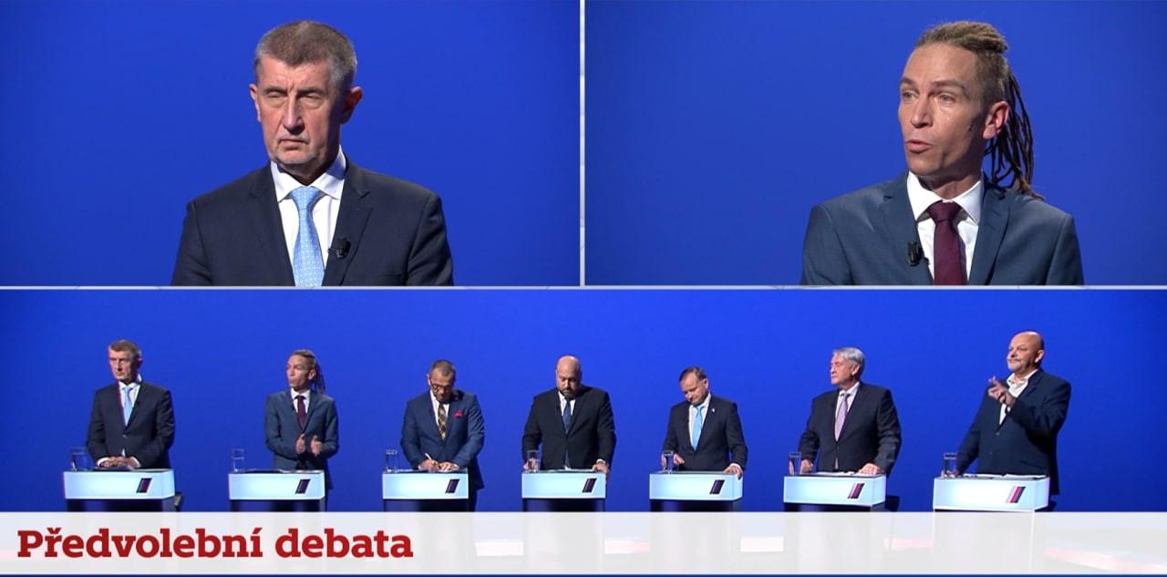 Důrazný Bartoš, nezastavitelný Babiš. Jaký byl televizní střet favoritů?