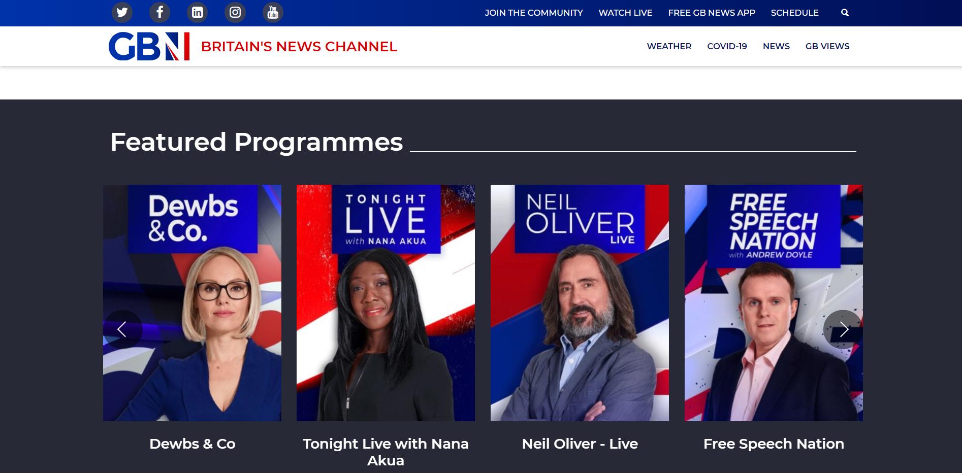 GB News: Rozpačitý start první zpravodajské TV vBritánii po 30letech